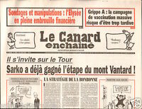 CANARD ENCHAINÉ Birthday Newspaper JOURNAL NAISSANCE 22 JUILLET JULY 2009
