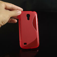 HOUSSE ETUI COQUE SILICONE GEL ROUGE SAMSUNG GALAXY S4 MINI