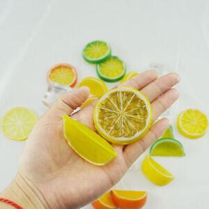 5pcs Artificial Plastic Lemon Slices Fake Fruit Gifts Decorative Party Kitc SC
