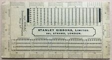 STANLEY GIBBONS thick card perforation guage - the Ideal - 2 scans