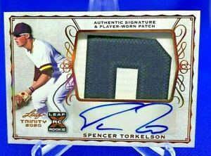 2020 Leaf Trinity SPENCER TORKELSON Autographed 2-Color Patch Card (PA-ST1)!
