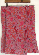 A-Line Knee-Length Regular Size 100% Cotton Skirts for Women