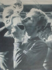 Signed Bobby Moore England 1966 World Cup Victory Kissing Jules Rimet Trophy COA