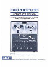 Akai  Bedienungsanleitung user manual owners manual  für GX-280 D- SS
