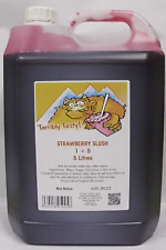 SLUSH SYRUP 4x5 LTR Red Strawberry Slush Incd 200 Spoon Straws