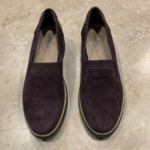 Clarks Sharon Dolly Loafer Slip-on, New , Size 7.5; Purple.