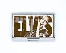 Porte Carte de Crédit / Visite musique ELVIS rock Etanche Boîte Rigide en acier
