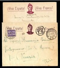 17985-ESPAÑA-SPAIN-MILITARY COVER LETTER FASCIST SANTANDER to VENEZIA 1937 WWII.