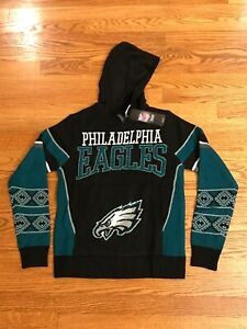PHILADELPHIA EAGLES NFL Sweater Ugly Christmas Hoodie - YOUTH M, NEW w/Tags