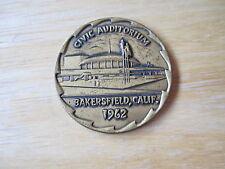 1962 Bakersfield, California Civic Auditorium Medal