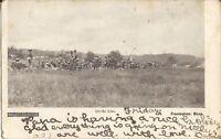 """Framingham, MASSACHUSETTS - Pre-WWI Military Exercises - 1907 - """"On the Line"""""""