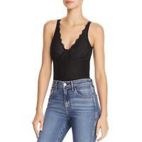Bardot Womens Essie Lace Sleeveless Night Out Bodysuit Top BHFO 5452