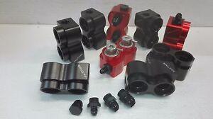 Benzindruckregler Gehäuse doppelt Fastlane CNC VR6 R32 Turbo Billet E-85 schwarz