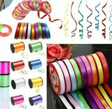 Curling Ribbon Disc Rolls Reels 10mm Widths Double Sided 55 Metres Balloon UK