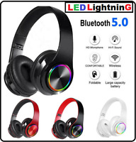 Wireless Headset Bluetooth For Over Ear Headphone Stereo Earphone With Micropho