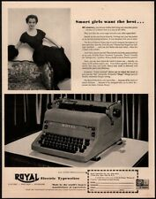1951 ROYAL Portable Typewriter - Pretty Secretary - Office - Original VINTAGE AD