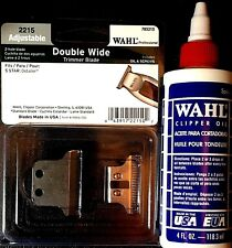 Wahl Detailer Double Wide Trimmer T-Blade 2215 & Wahl 4 oz Oil   043917221502,