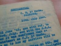 WW2 (1943) CONFIDENTIAL DOCUMENTS regarding PAI Force (Persia and Iraq)