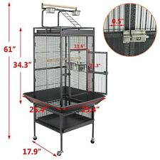 """61"""" Large Bird Cage Top Play Power Coated Steel Best Pet House Removable Part"""