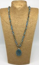 Fashion M-knot Crystal Beads natural stone  Pendant Woman Necklace Gift