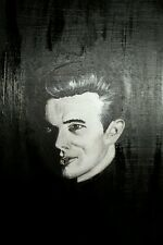 """James Dean"", Portrait, original, celebrity, signed, acrylic"