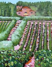 TUSCANY Vineyard Original Art PAINTING DAN BYL Modern Contemporary 4ft x 5ft
