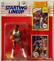 NBA STARTING LINEUP UTAH JAZZ~KARL MALONE FIGURE~1985 YEAR ROOKIE CARD&1990 CARD