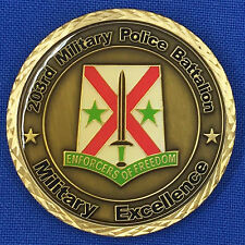 US Army 203rd Military Police Battalion Alabama ARNG MP Challenge Coin