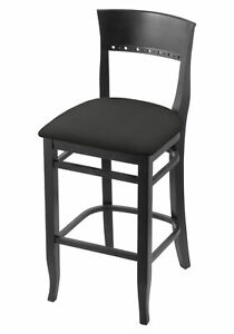 """Holland Bar Stool Co. 3160 25"""" Counter Stool with Black Finish and a Canter E..."""