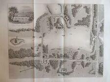 1842 Antique Map of Virginia Water, Windsor Great Park, Surrey