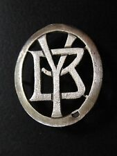 MONOGRAMMES ARGENT MASSIF YB BY INITIALE CHIFFRE SOLID SILVER MONOGRAMS ART DECO