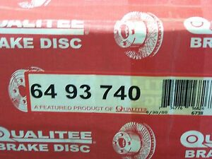 NOS Qualitee R93740 Front Disc Brake Rotor C20 C30 R20 R2500 G30 P20 P30 P25 P35