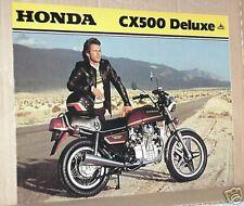 1979 Honda CX500 DELUXE Motorcycle Sales Brochure - Literature
