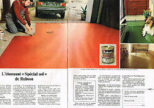 PUBLICITE ADVERTISING 054  1980  RUBSON   spécial sol  ( 2 pages)