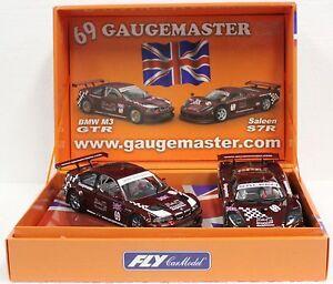 FLY E263 BMW M3 GTR & SALEEN S7R GAUGEMASTER 2-CAR SET NEW 1/32 SLOT CARS *RARE*