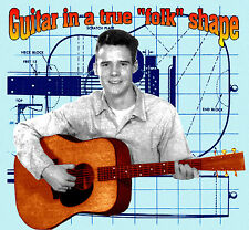 Make handmade Guitar in true Folk shape printed plans and building instructions