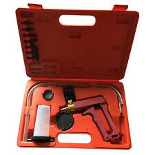 Brass Vacuum Brake Bleeder Hand Held Pump Tester Kit Adapters W/ Case