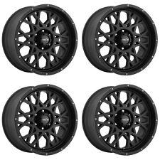 """Set 4 20"""" Vision 412 Rocker Black Rims 20x9 6x135 12mm Ford F150  Lincoln 6 Lug"""