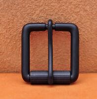 Rectangular Alloy Pin Single Prong Roller Black Buckle for Leather Belt 34MM