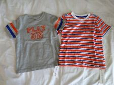 New! Janie and Jack Toddler Boy 2pc Summer Tees T-shirts Bundle- 4T -Bnwt!