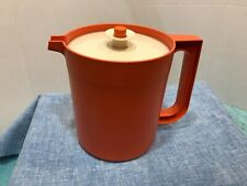 Vintage Tupperware Pitcher Go Between 1.5 Quart Orange Jug #1575-10