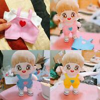 KPOP JUNGKOOK Daniel EXO GOT7 Plush Toy Doll's Clothes Tshirt Bib pants【no doll】