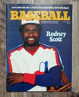 MLB 1981 Montreal Expos Game Program Vol 13 No 3 Rodney Scott Cover