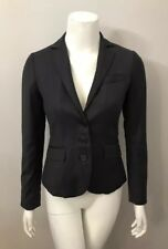 J. Crew Super 120's Gray Wool Crepe Single Breasted Suit Jacket Blazer Size 0