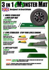 3-IN-1 MONSTER MATS for mud / snow - Motorhome Caravan Grip Tyre Level