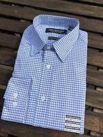 $65 Nick Graham Blue Print Button Down Sport Shirt Long Sleeve Sz 15.5 32-33 M