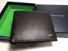 Brand new Genuine Tommy Hilfiger Black Leather bifold Mens wallet,