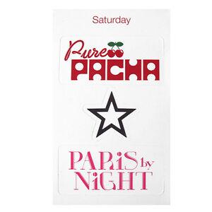 Pure Pacha Ibiza Club Sticker Set Cherry Logo White Paris by Night