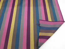 "Pink Stripes (2) ""Paul Smith STYLE Striped 100% Wool Curtain/Upholstery Fabric"