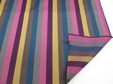 "Righe Rosa (2) "" Paul Smith stile a 100% LANA Tenda / tessuto di rivestimento"